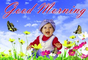 Good Morning Images photo Pic With Cute baby