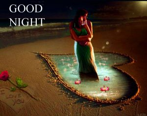 Lover Good Night Images Wallpaper With Romantic Couple