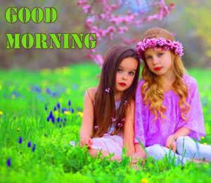 kids Good Morning Images photo wallpaper free hd
