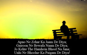 Latest Hindi Bewafa Shayari Images wallpaper free hd