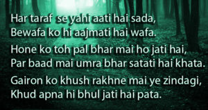 Hindi Bewafa Shayari Images Wallpaper free Download