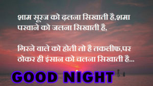 Hindi Quotes Good Night Images pictures pics download