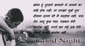 Good Night Love Images With Hindi Quotes pics photo for facebook