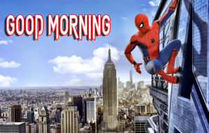 good Morning Images picture with spider man