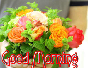 Good MorningWishes Pics Wallpaper With Flower