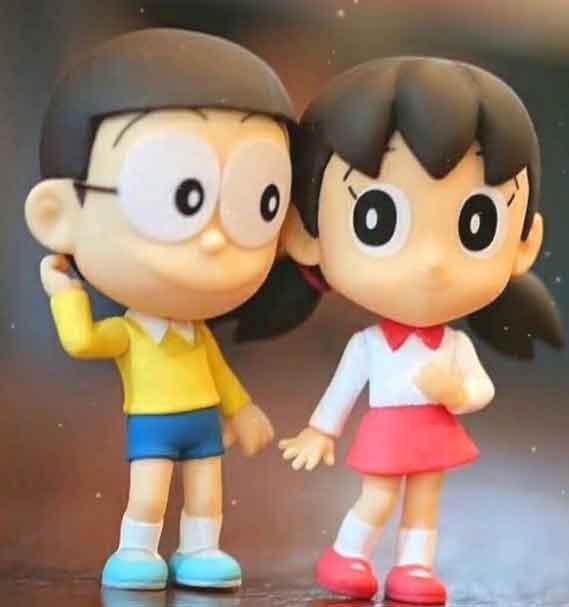 latest nobita shizuka whatsapp dp photo