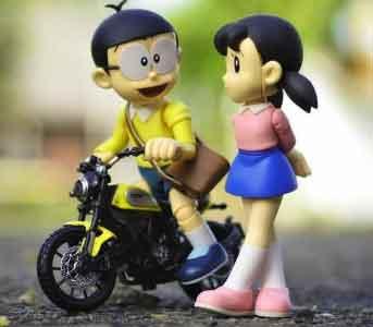 latest small nobita shizuka whatsapp dp hd