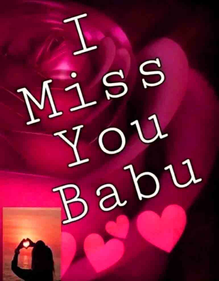 I Miss You Images for babu