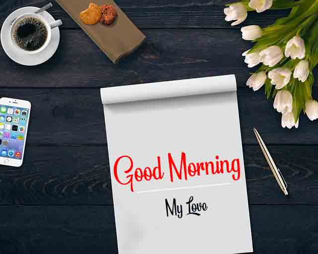 card and flower k Good Morning pics hd