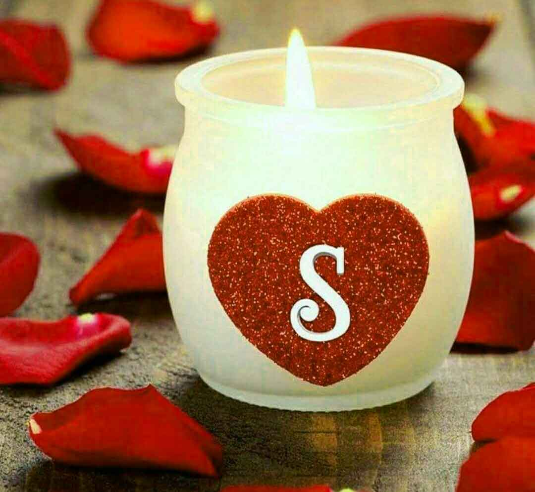 nice heart S letter whatsapp dp for mom hd