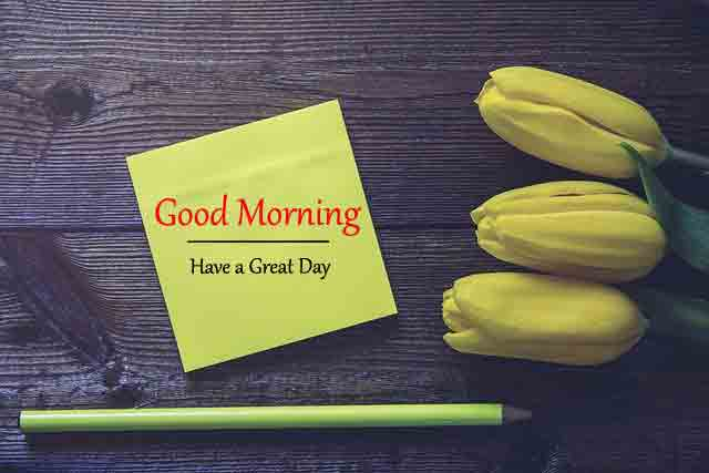 sad yellow flower and card Good Morning images hd